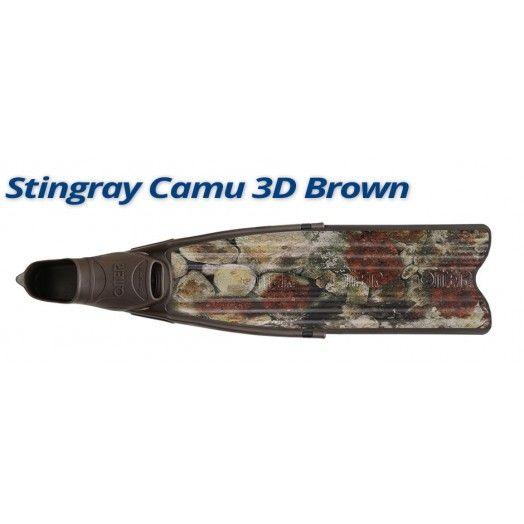 PALME - OMER - STINGRAY BROWN CAMU 3D - Palmes de chasse - Chasse sous-marine - Atlantys Homopalmus