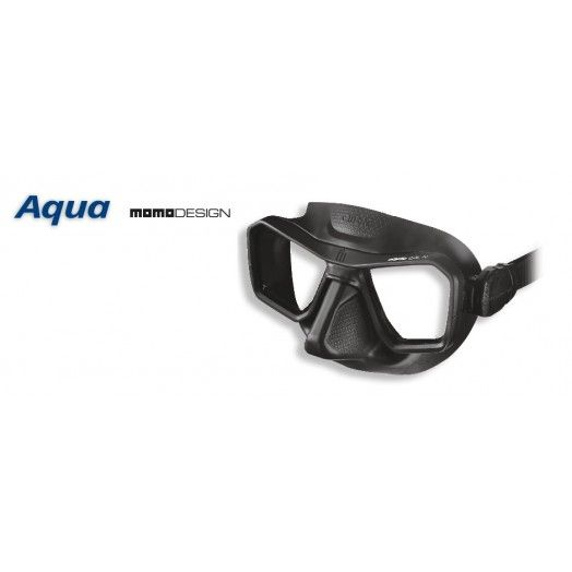 OMER - MASQUE AQUA - SILICONE NOIR - Omer - Masques de chasse • tubas - Atlantys Homopalmus