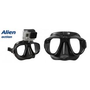 MASQUE - OMER - ALIEN - NOIR AVEC SUPPORT GO PRO - Masques • tubas de chasse - Chasse sous-marine - Abysea