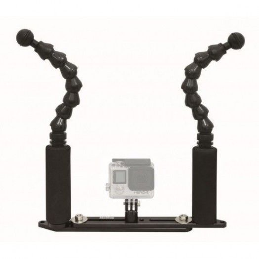 "BIGBLUE - FlexiExtendGPTray: 7"" Flexi Arm Extendable GoPro tray - SUPPORT - Accessoires • Supports - Lampes de plongée -"