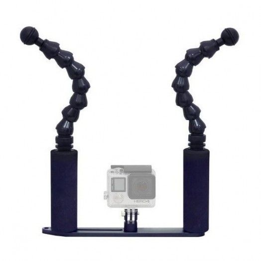 "BIGBLUE - FlexiGPTray: 7"" Flexi Arm GoPro tray - SUPPORT - Accessoires • Supports - Lampes de plongée - Atlantys Homopalmus"