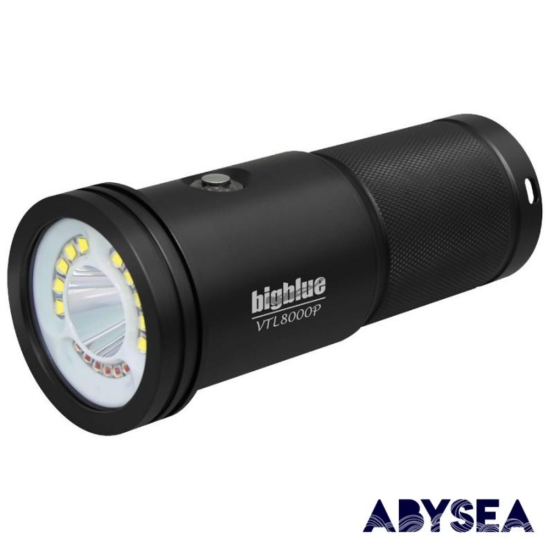 BIGBLUE - VTL8000P - PHARE DE PLONGÉE - Lampes de plongée - Plongée sous-marine - Atlantys Homopalmus