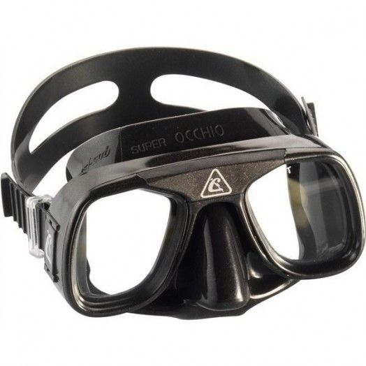 CRESSI - MASQUE SUPEROCCHIO NOIR - Masques • tubas de chasse - Chasse sous-marine - Abysea