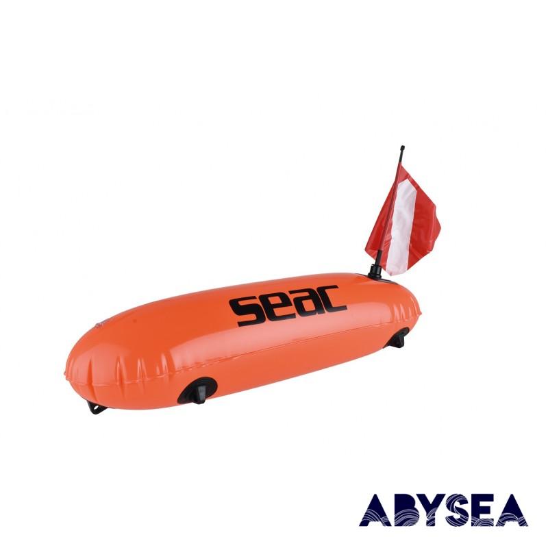 BOUEE - SEAC -TORPEDO ORANGE FLUO - Bouée / planche • Accroche poisson • Dry box - Accastillage • Accessoires de chasse - Abysea