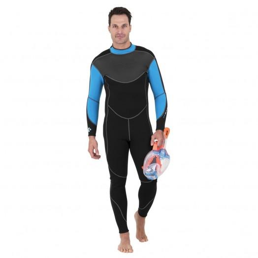 COMBINAISON - SEAC - MONOPIECE SENSE LONGUE HOMME 3 MM - Combinaisons apnée & snorkeling - Triathlon • Apnée • Snorkeling -