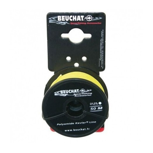 Fil nylon kevlar Beuchat jaune 50m x 1,5mm - Fil • Shock absorber - Accastillage • Accessoires de chasse - Abysea