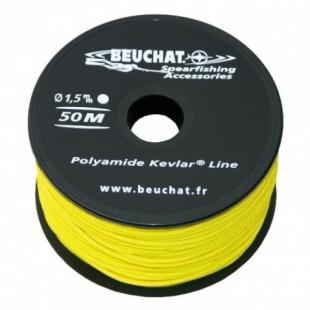 Fil nylon kevlar Beuchat jaune 50m x 1,5mm