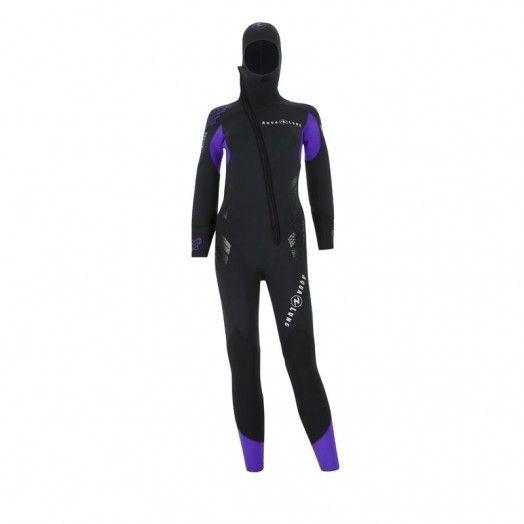 Combinaison de plongée femme - AQUALUNG - BERING COMFORT FEMME 6,5mm - Combinaisons de plongée - Plongée sous-marine - Abysea