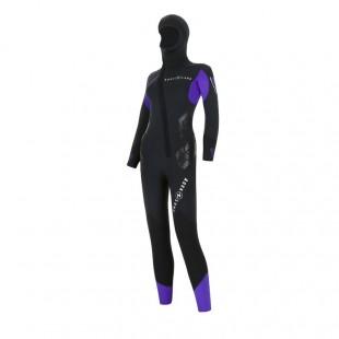 Combinaison de plongée femme - AQUALUNG -  BERING COMFORT FEMME 6,5mm